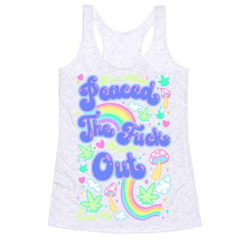 Peaced The F*** Out Racerback Tank Top