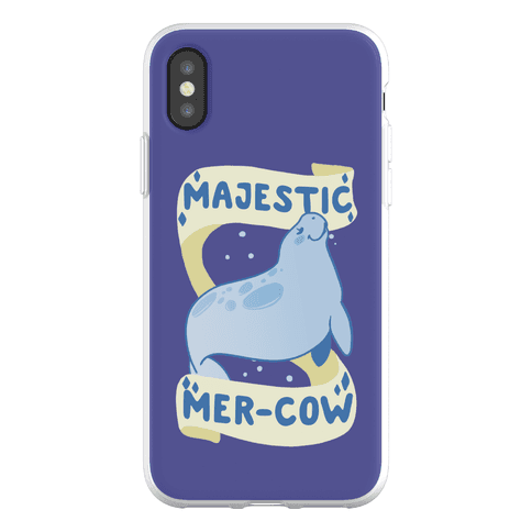 Majestic Mer-Cow Phone Flexi-Case