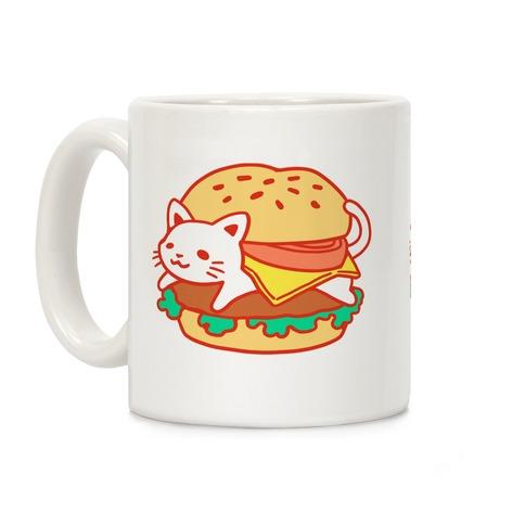 Burger Cat (No Text) Coffee Mug