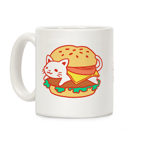 Burger Cat (No Text) Coffee Mug