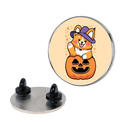 Cute Halloween Corgi Pin