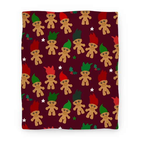 Christmas Trolls Pattern Blanket