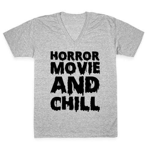 Horror Movie And Chill V-Neck Tee Shirt