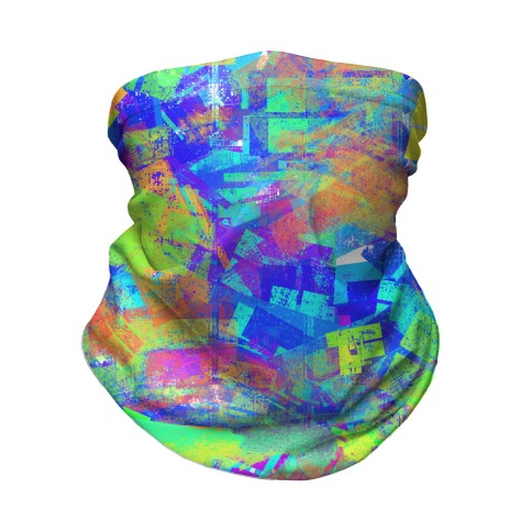 Abstract Psychedelic  Neck Gaiter