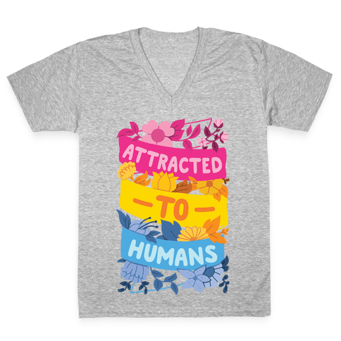 Attracted To Humans V-Neck Tee Shirt