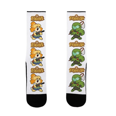 Best Friends Doomguy and Isabelle Sock