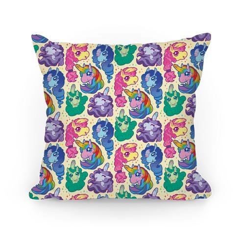 Unicorn Penis Pattern Pillow