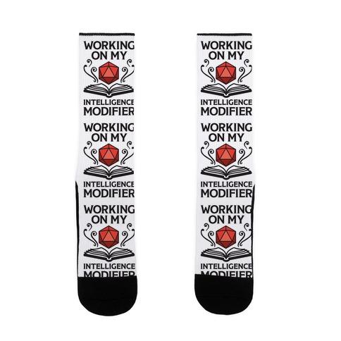 Working On My Intelligence Modifier Sock