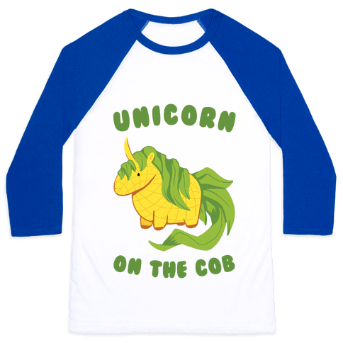 Unicorn On The Cob Baseball Tee