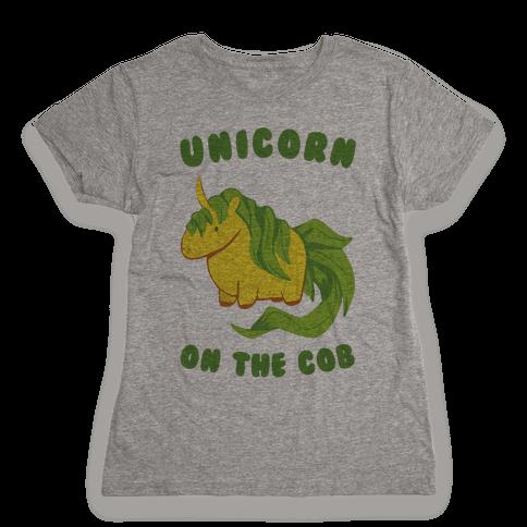 Unicorn On The Cob Womens T-Shirt
