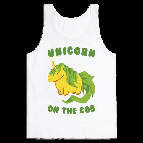 Unicorn On The Cob Tank Top