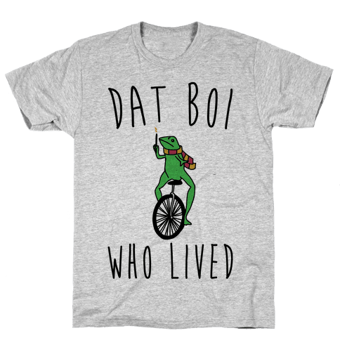 Dat Boi Who Lived Parody Mens T-Shirt
