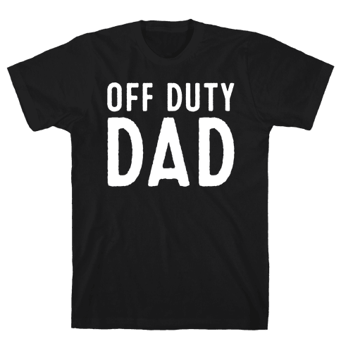 Off Duty Dad White Print