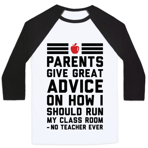 Parents Give Great Advice Baseball Tee