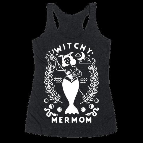 Witchy Mermom Racerback Tank Top