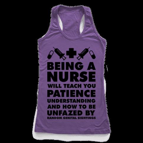 Being a Nurse Racerback Tank Top
