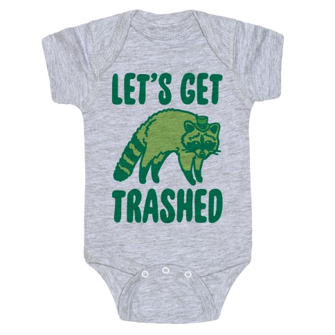 Let's Get Trashed Raccoon St. Patrick's Day Parody Baby Onesy