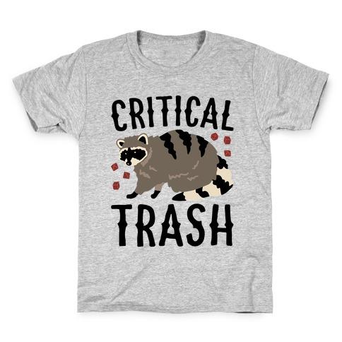 Critical Trash Raccoon Parody Kids T-Shirt