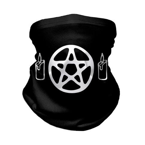 Pentagram and Candle Face Mask Neck Gaiter