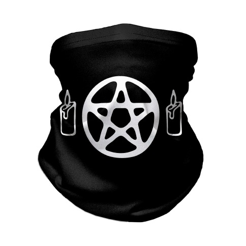 Pentagram and Candle Face Mask Neck Gaiter