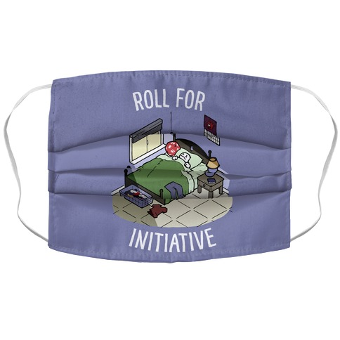 Roll For Initiative To Get Out Of Bed Accordion Face Mask