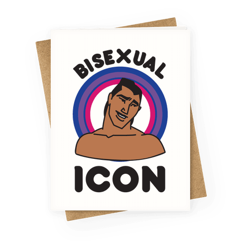 Bisexual Icon Greeting Card
