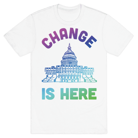 Change Is Here Congress Mens T-Shirt