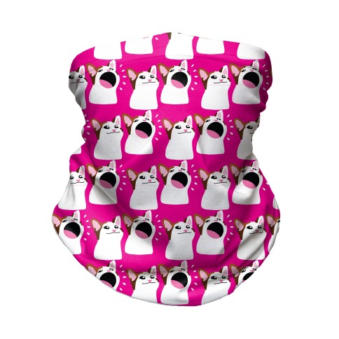 Pop Cat Pattern Neck Gaiter