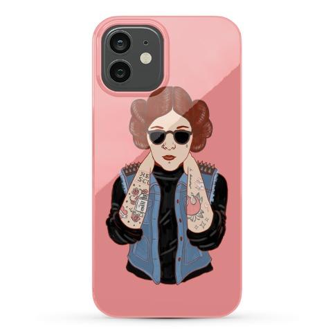 Punk Leia Parody Phone Case