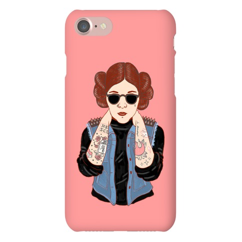 Punk Leia Parody Phone Case