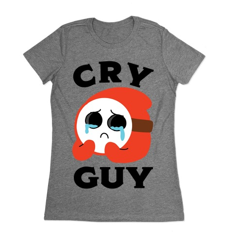 Cry Guy Womens T-Shirt