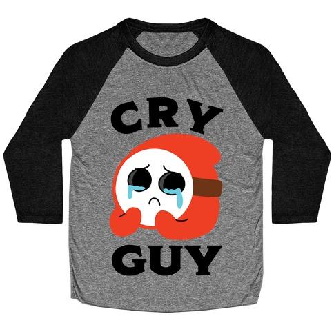 Cry Guy Baseball Tee