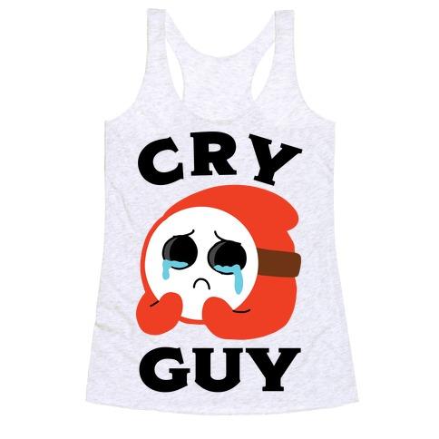 Cry Guy Racerback Tank Top