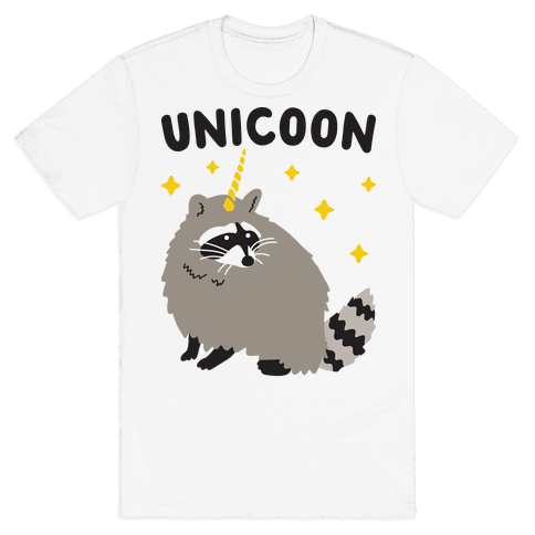 Unicoon Raccoon Unicorn  Mens T-Shirt