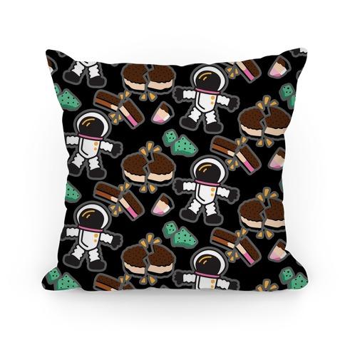 Astronaut Ice Cream Pattern Pillow