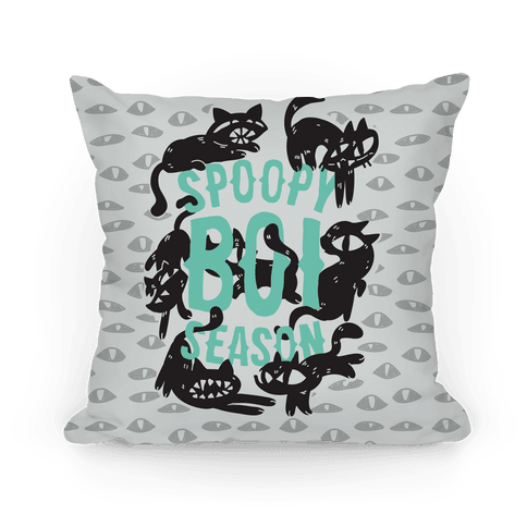 Spoopy Boi Season Pillow