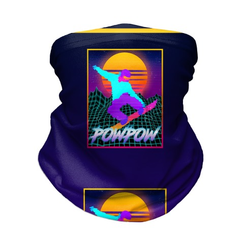 POWPOW Synthwave Snowboarder Neck Gaiter