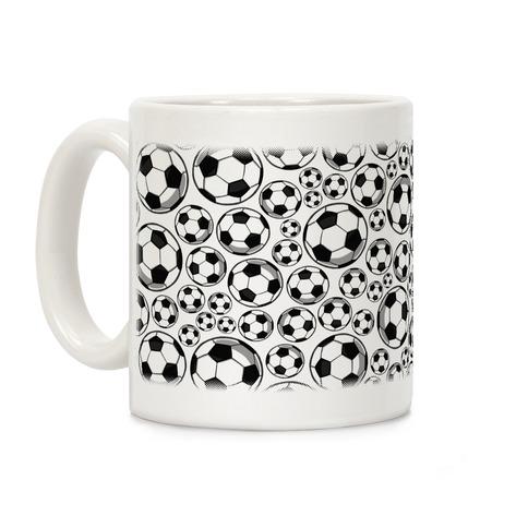 Soccer Balls Pattern Coffee Mug