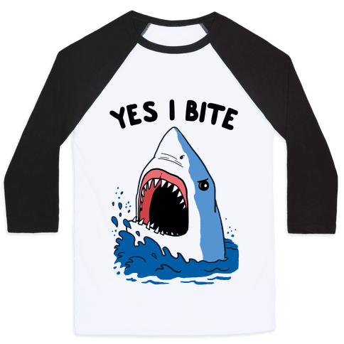 Yes I Bite (CmYK) Baseball Tee