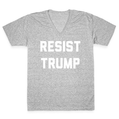 Resist Trump V-Neck Tee Shirt