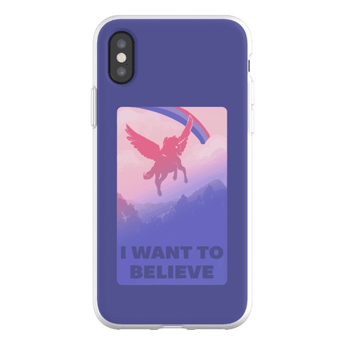 I Want To Believe Bisexual Unicorn Phone Flexi-Case