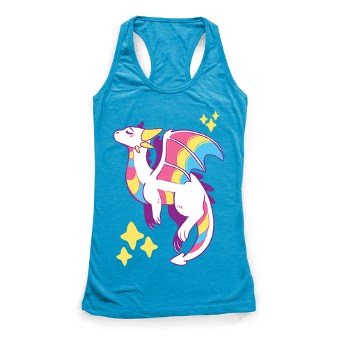 Pan Pride Dragon Racerback Tank Top