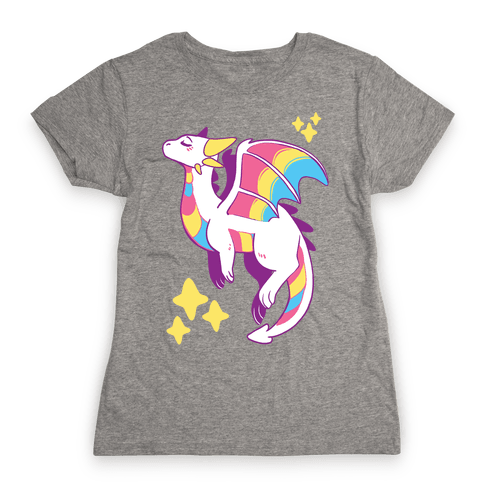 Pan Pride Dragon Womens T-Shirt