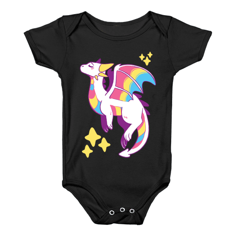 Pan Pride Dragon Baby Onesy