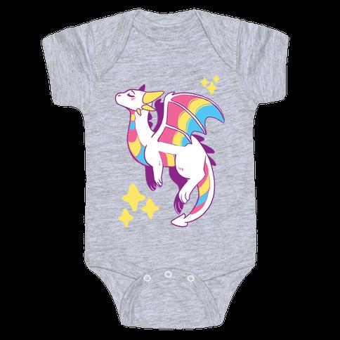 Pan Pride Dragon Baby Onesy
