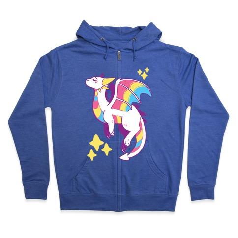 Pan Pride Dragon Zip Hoodie