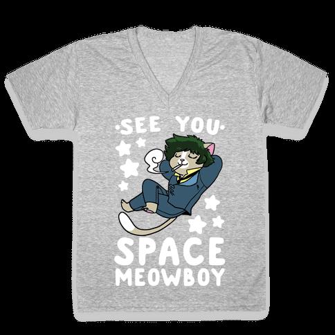 See you, Space Meowboy - Cowboy Bebop V-Neck Tee Shirt