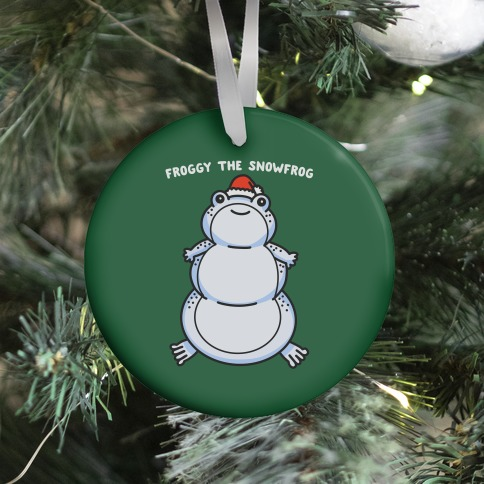 Froggy The Snowfrog Ornament