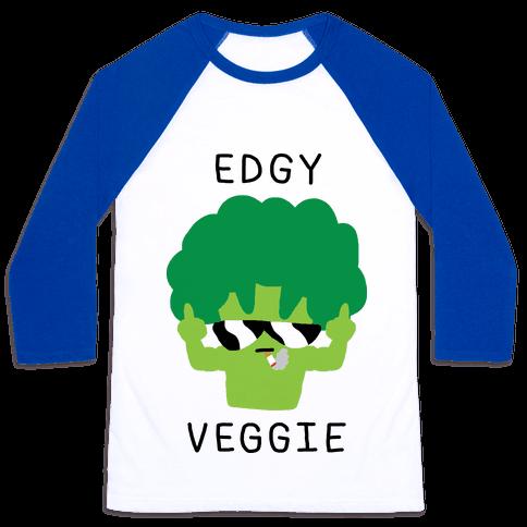 Edgy Veggie Baseball Tee