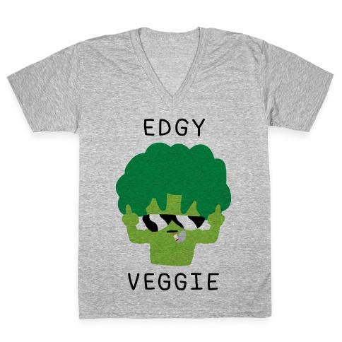 Edgy Veggie V-Neck Tee Shirt